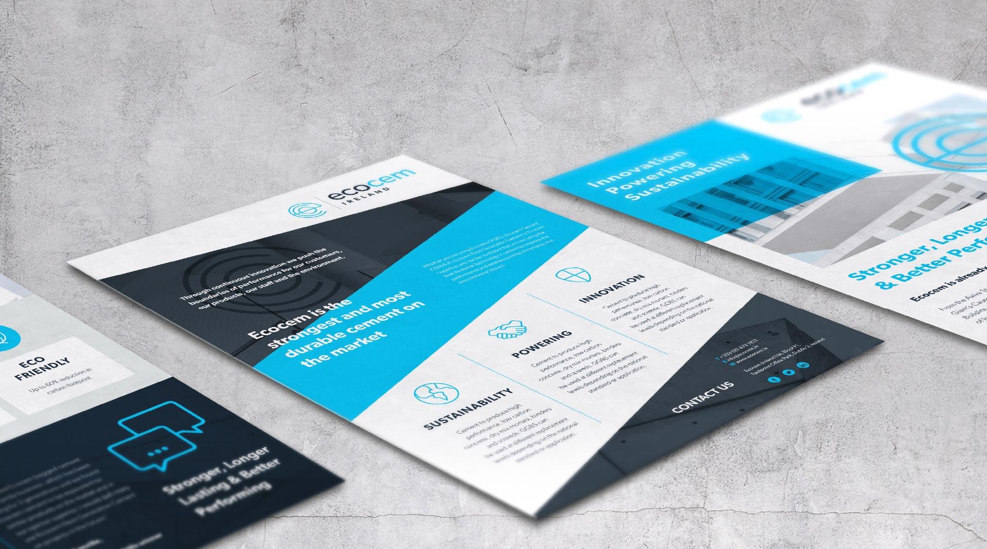 Ecocem Ireland design of technical data sheets