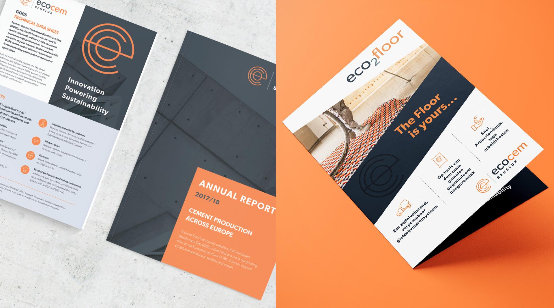 Ecocem Benelux brochure design