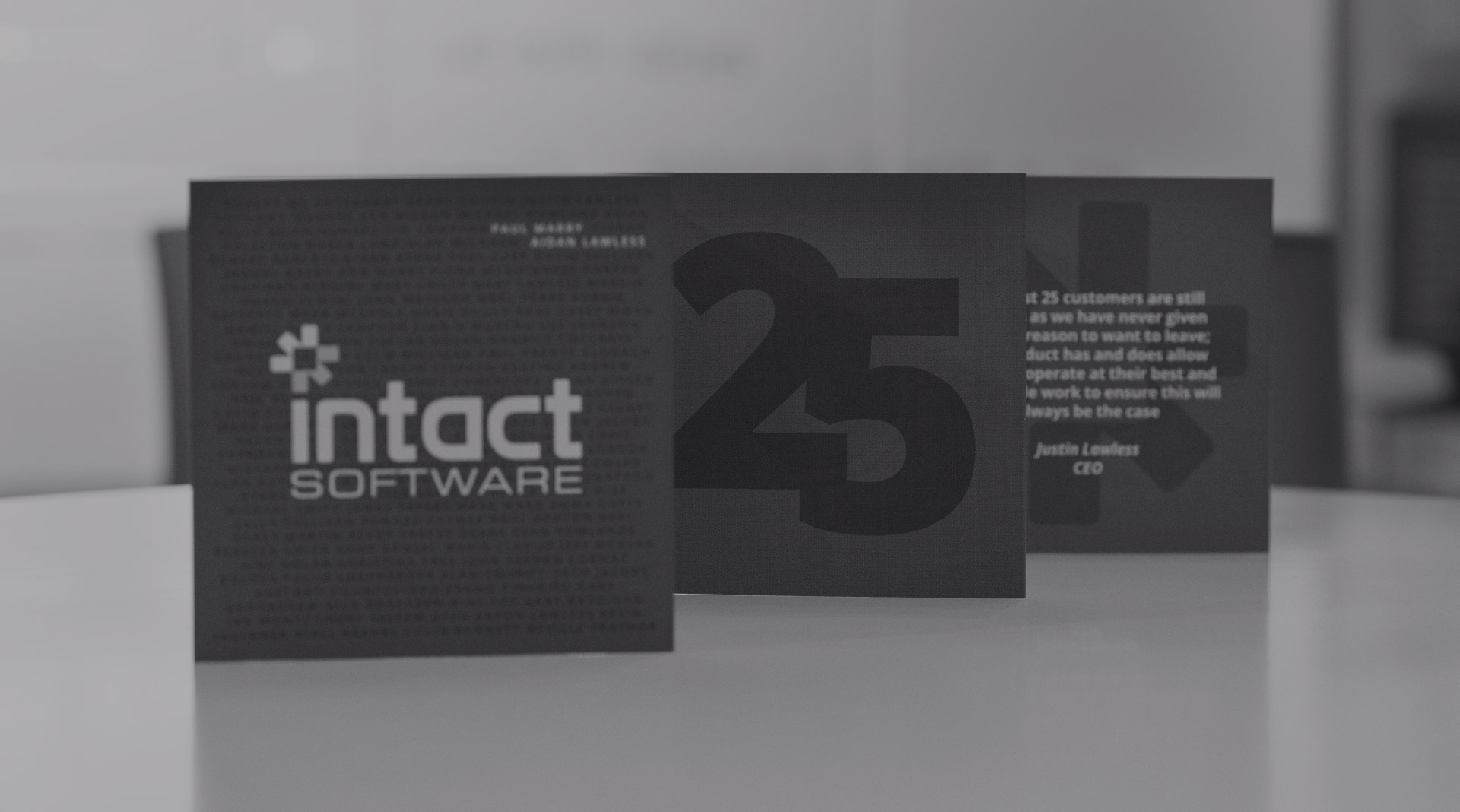 Intact Software -25 Years Branding.