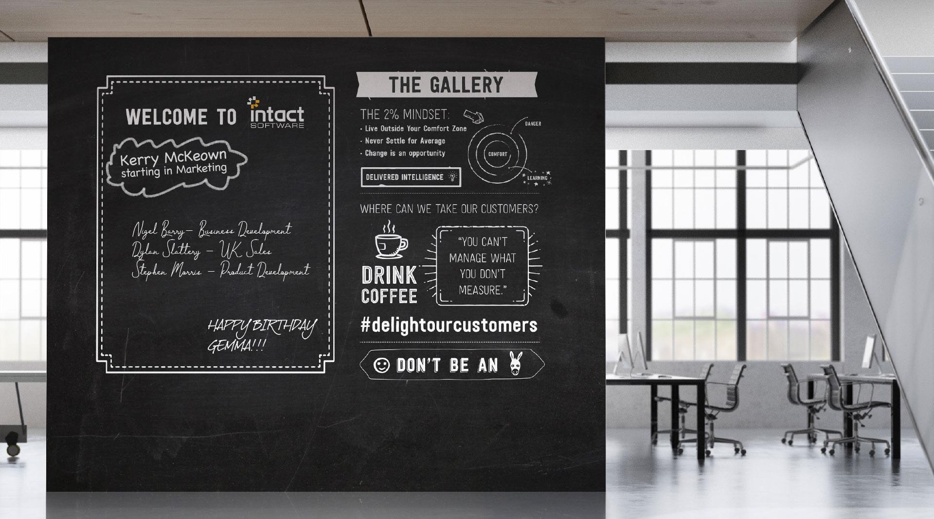 Intact UK Office - Chalkboard Wall