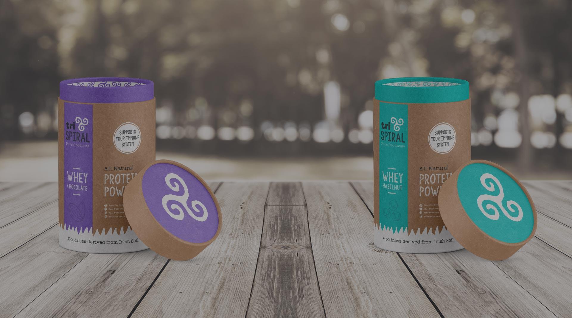 TriSpiral Packaging Design.