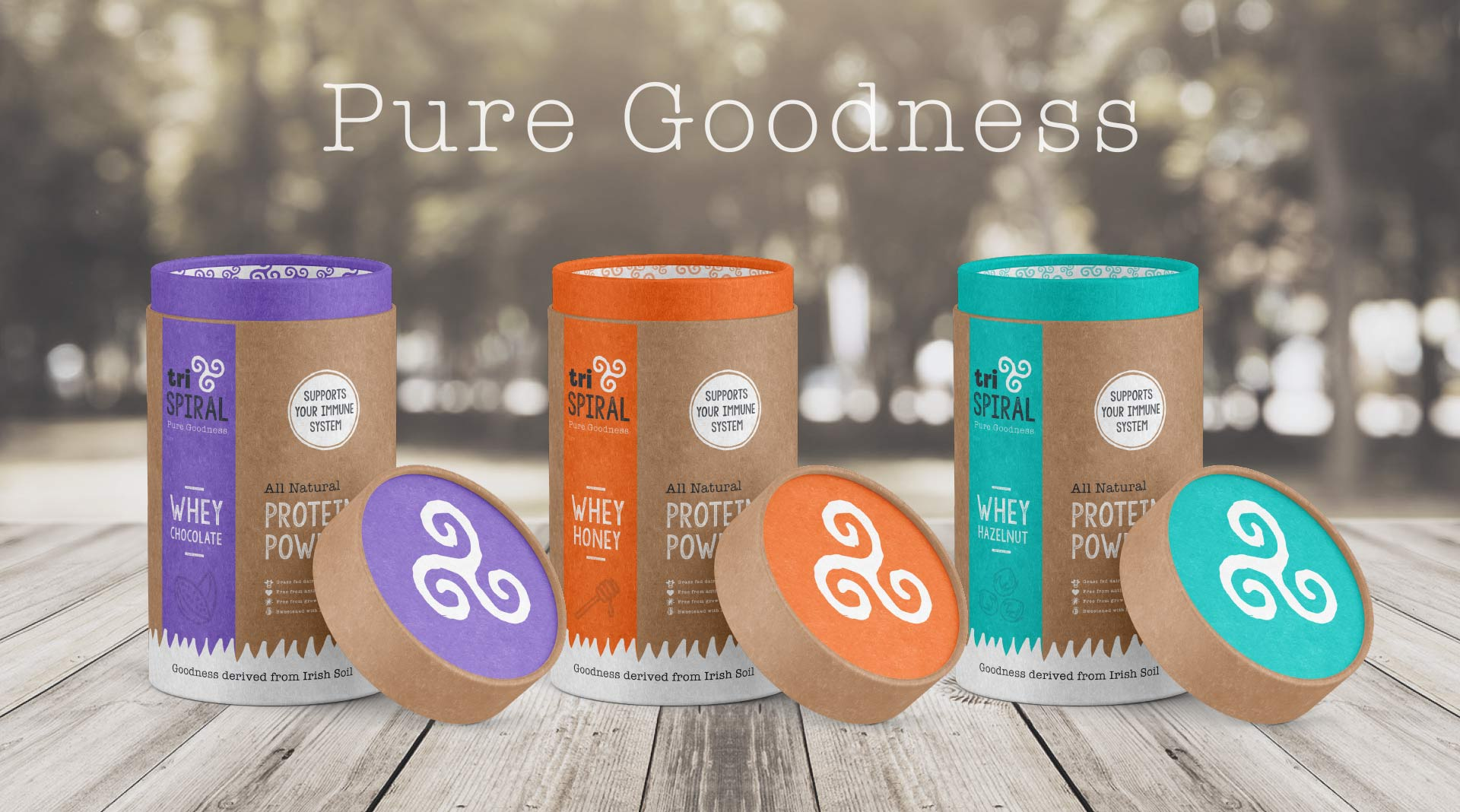 TriSpiral Protein Packaging Series