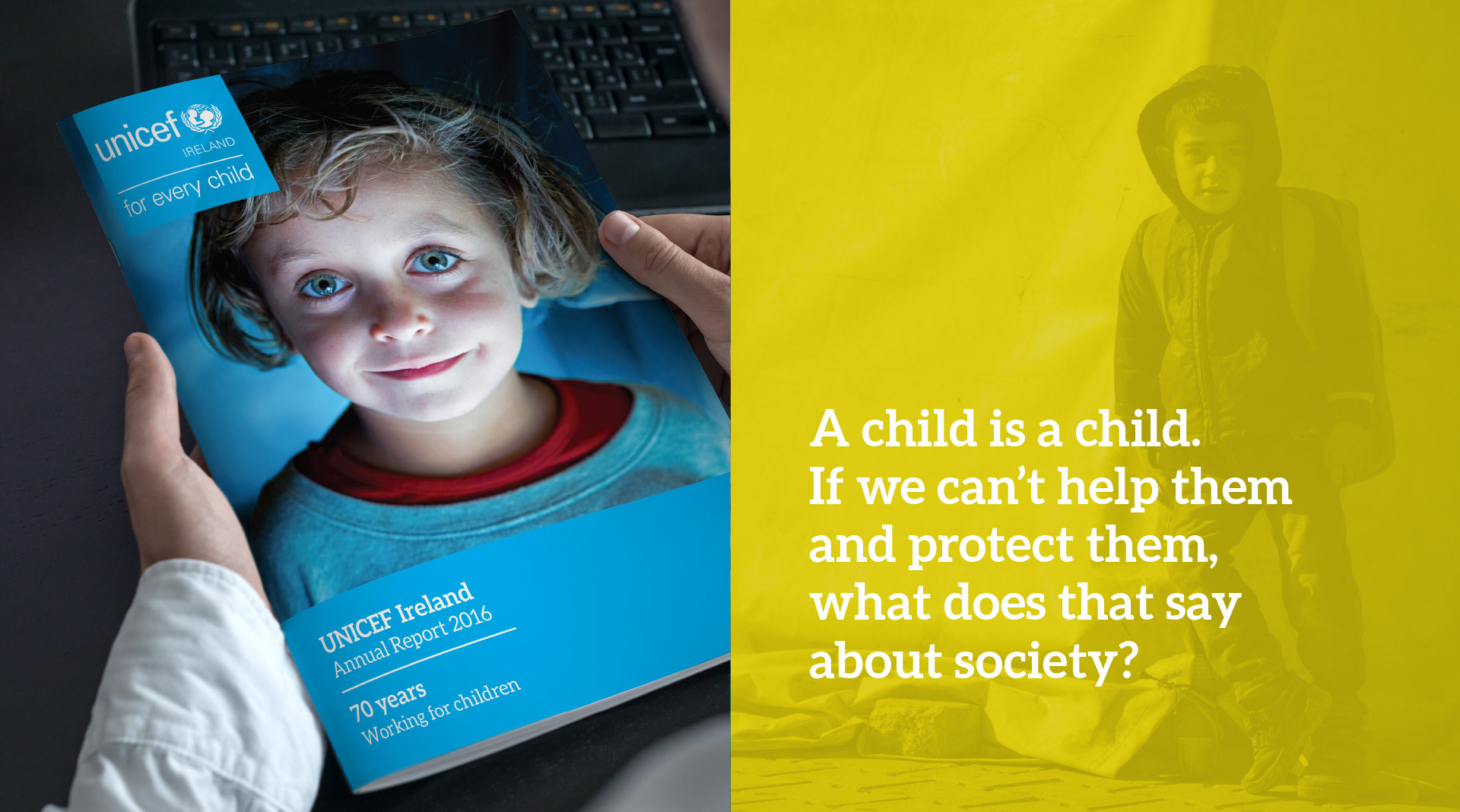 Unicef front cover and infographics