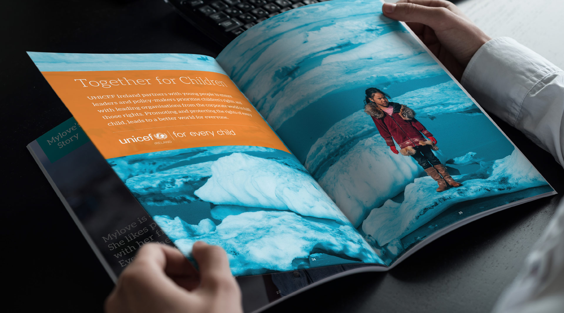Unicef title page spread