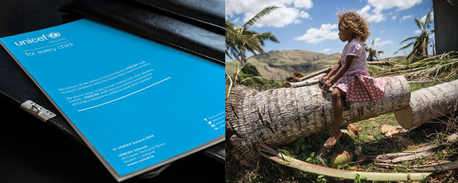 Unicef back cover and image