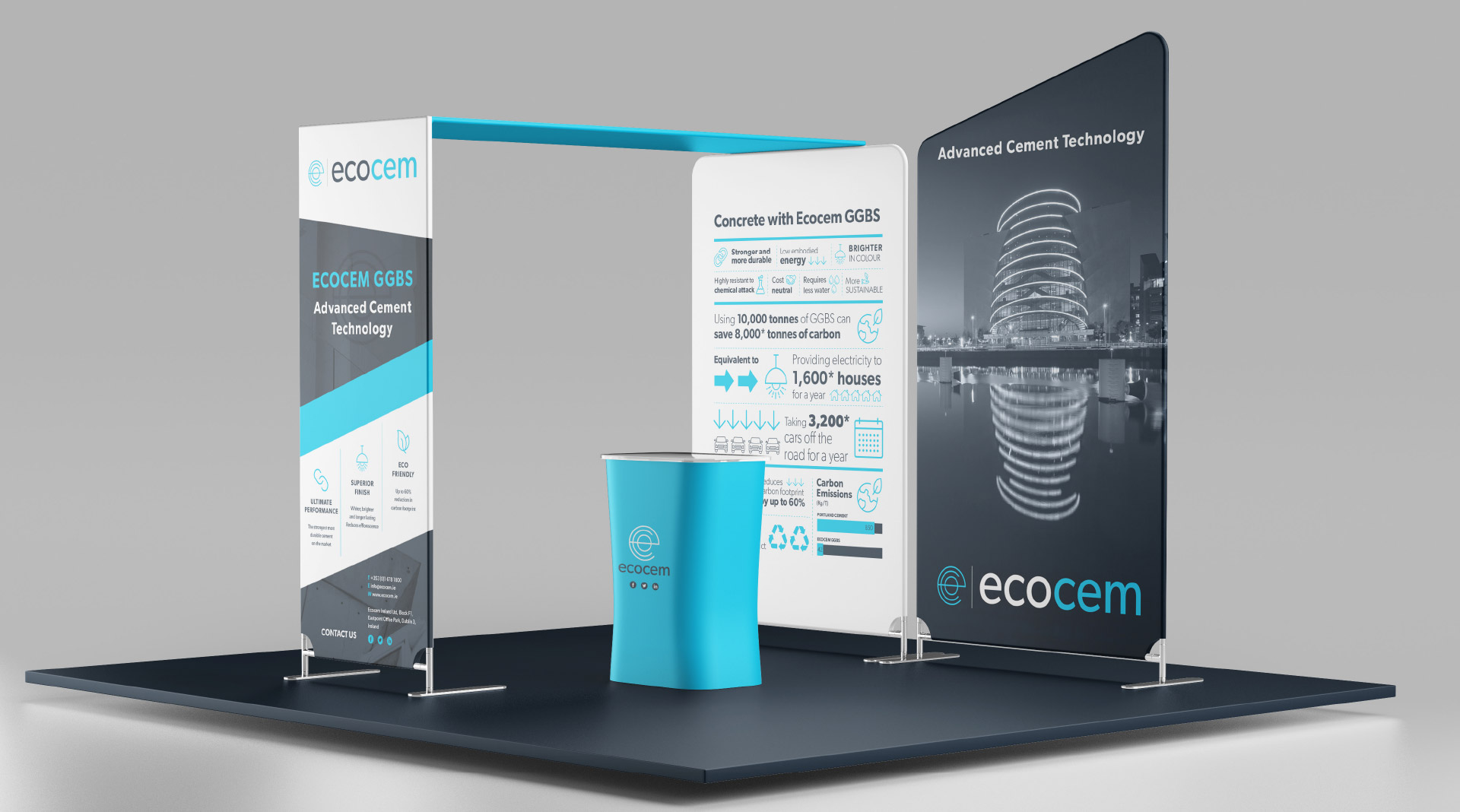 Ecocem Exhibition graphics