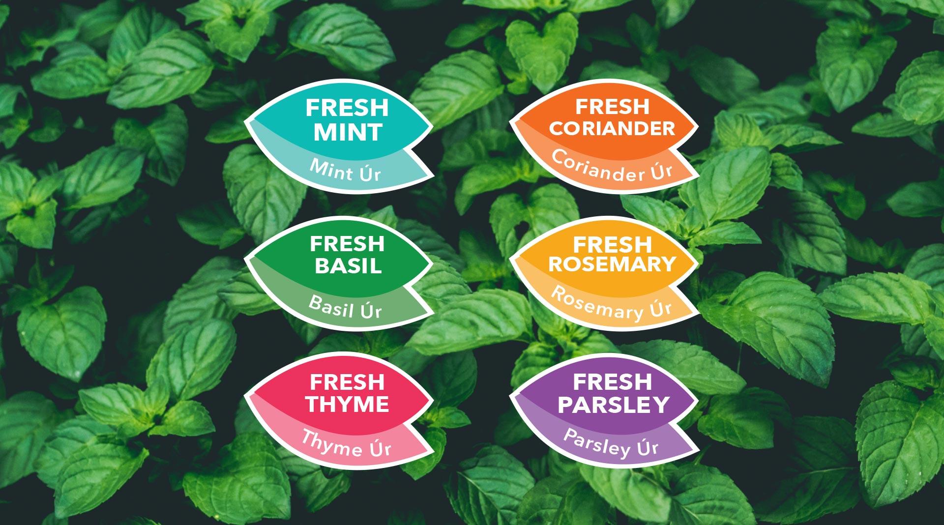 Grá herb range designed by Sweet.