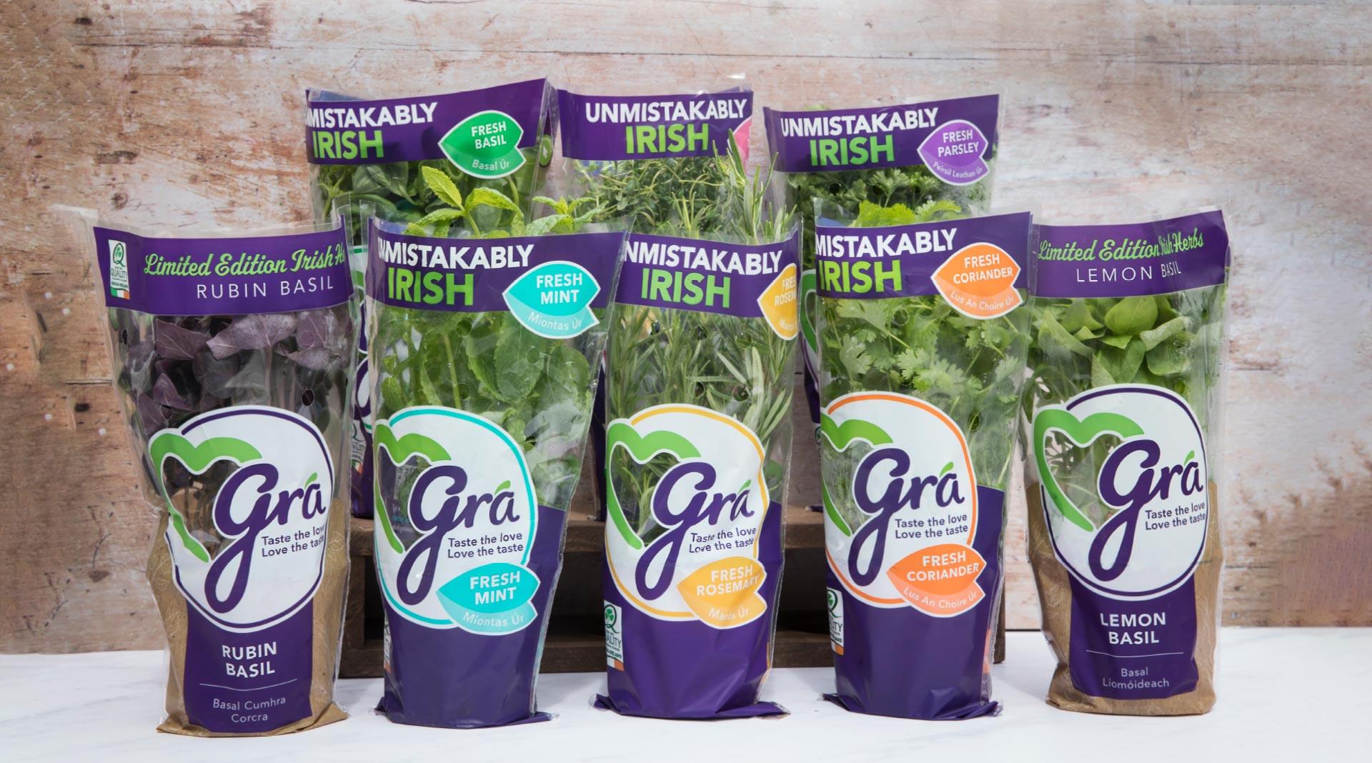 Grá herb range collection designed by Sweet.