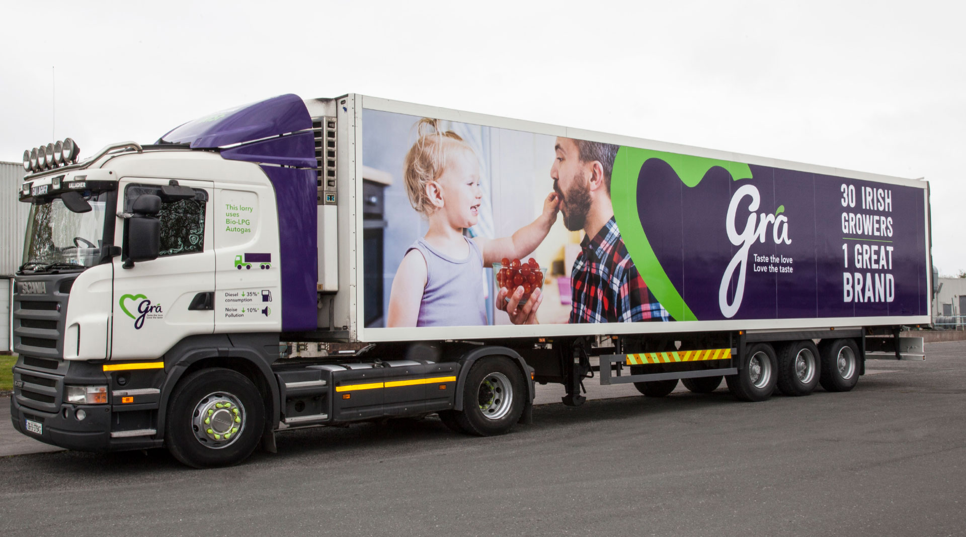 Grá truck and livery design.