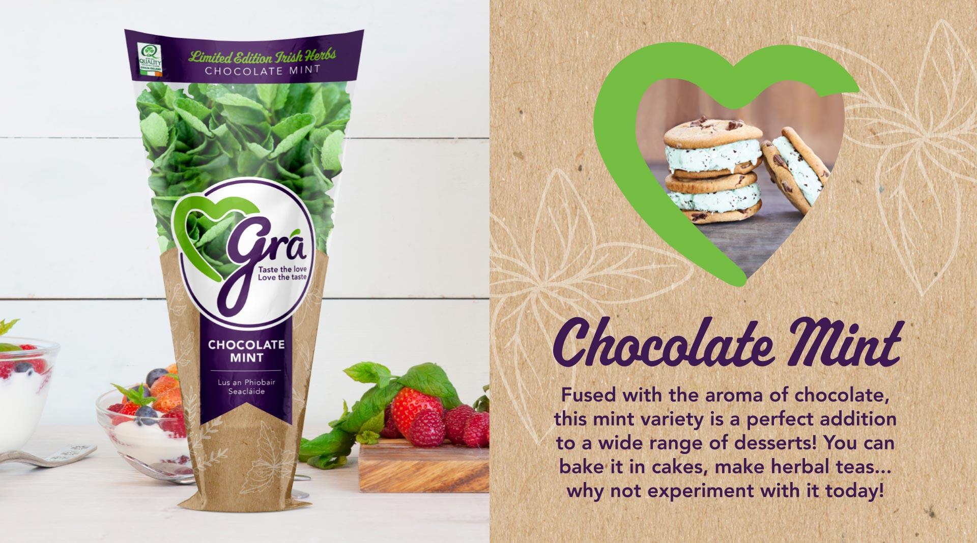 Grá limited edition herb packaging design.