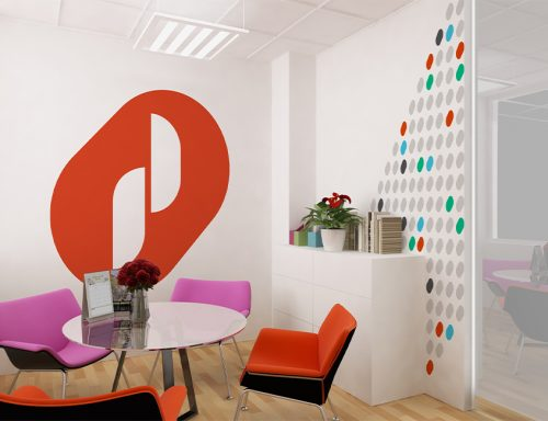Prodieco wall graphic design.