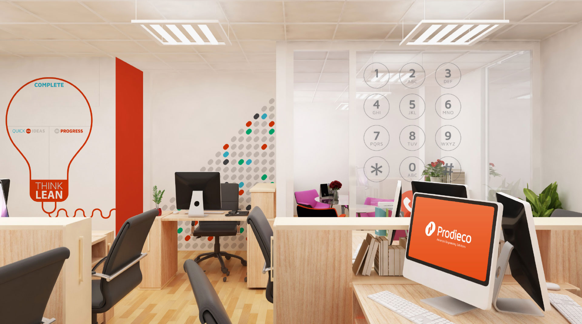 Prodieco Office wall graphics.