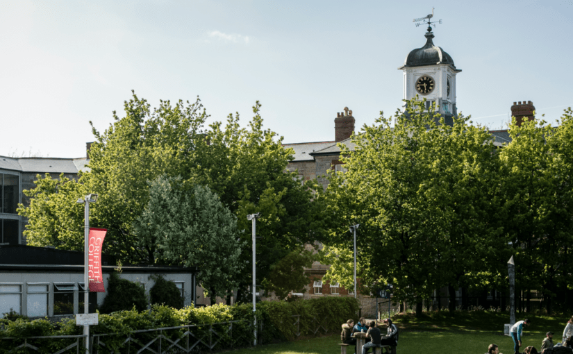 Griffith College outdoor image with clock tower in the background