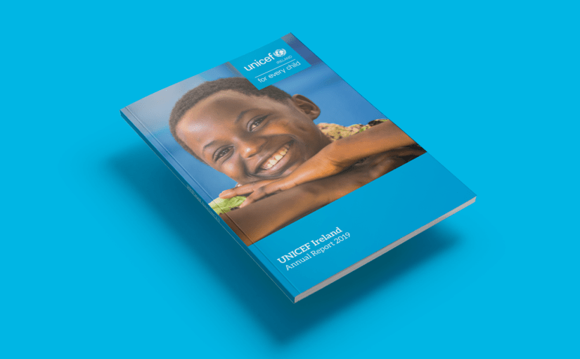 Unicef Ireland 2019 annual report design